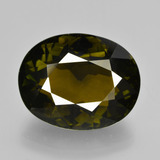 thumb image of 12.4ct Oval Facet Golden Green Tourmaline (ID: 412592)