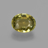 thumb image of 1.5ct Oval Facet Golden Green Tourmaline (ID: 412953)