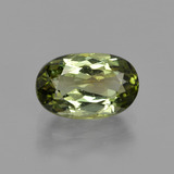 thumb image of 1.5ct Oval Facet Yellowish Green Tourmaline (ID: 413274)