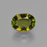thumb image of 1.5ct Oval Facet Golden Green Tourmaline (ID: 413329)