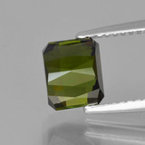 2.68 ct Octagon / Scissor Cut Yellowish Green Tourmaline Gem 7.35 mm x 6.1 mm (Photo C)