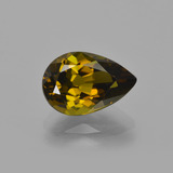thumb image of 2.4ct Pear Facet Golden Green Tourmaline (ID: 413831)
