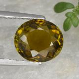 thumb image of 2.7ct Oval Facet Greenish Golden Tourmaline (ID: 415435)