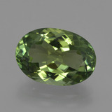 thumb image of 6.1ct Oval Facet Green Tourmaline (ID: 416465)