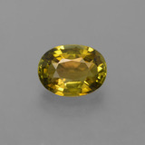thumb image of 1.5ct Oval Facet Golden Green Tourmaline (ID: 416470)