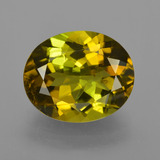 thumb image of 4.4ct Oval Facet Golden Green Tourmaline (ID: 416481)