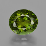 thumb image of 4.1ct Oval Facet Green Tourmaline (ID: 416482)