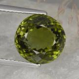 thumb image of 5.7ct Round Portuguese-Cut Golden Green Tourmaline (ID: 417186)