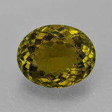 thumb image of 5.3ct Oval Facet Golden Green Tourmaline (ID: 417187)