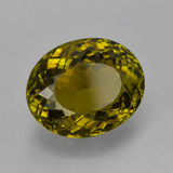 5.30 ct Oval Facet Golden Green Tourmaline Gem 12.18 mm x 9.8 mm (Photo B)