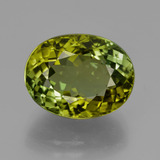thumb image of 7.3ct Oval Facet Golden Green Tourmaline (ID: 417188)