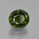 3.51 ct Oval Portuguese-Cut Green Tourmaline Gem 9.38 mm x 8.6 mm (Photo B)