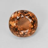 thumb image of 3.9ct Oval Facet Pinkish Orange Tourmaline (ID: 417828)