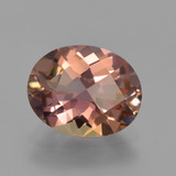 thumb image of 2.4ct Oval Checkerboard Bi-color Tourmaline (ID: 419713)