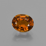 thumb image of 0.8ct Oval Facet Greenish Orange Tourmaline (ID: 420020)