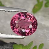 thumb image of 2ct Oval Portuguese-Cut Pink Red Tourmaline (ID: 420636)