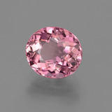 1.62 ct Oval Facet Rose Pink Tourmaline Gem 7.92 mm x 7.1 mm (Photo B)