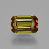 thumb image of 0.7ct Octagon Facet Golden Green Tourmaline (ID: 425759)