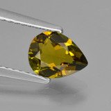 thumb image of 0.9ct Pear Facet Golden Green Tourmaline (ID: 425800)