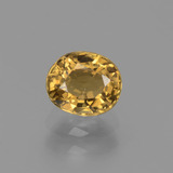 thumb image of 0.7ct Oval Facet Golden Tourmaline (ID: 425975)