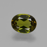 thumb image of 1ct Oval Facet Golden Green Tourmaline (ID: 426171)