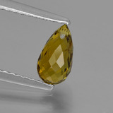 thumb image of 0.9ct Briolette with Hole Golden Green Tourmaline (ID: 426189)