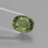 thumb image of 0.7ct Oval Facet Green Tourmaline (ID: 434248)