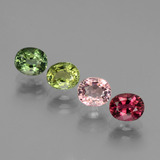 thumb image of 3ct Oval Facet Multicolor Tourmaline (ID: 434552)