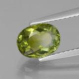 1.42 ct Oval Facet Yellowish Green Tourmaline Gem 7.95 mm x 6 mm (Photo B)