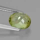 1.48 ct Oval Facet Yellowish Green Tourmaline Gem 7.69 mm x 6.5 mm (Photo C)