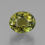 thumb image of 2.9ct Oval Facet Yellowish Green Tourmaline (ID: 441273)