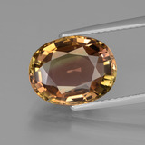 thumb image of 4.2ct Oval Facet Bi-color Tourmaline (ID: 446398)
