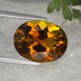 thumb image of 4.3ct Oval Facet Orange Tourmaline (ID: 446414)