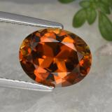thumb image of 2.5ct Oval Facet Reddish Orange Tourmaline (ID: 463556)