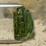 thumb image of 2.4ct Carved Fruit Cabochon Green Tourmaline (ID: 474710)