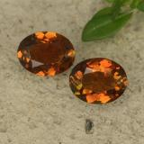 thumb image of 1.5ct Oval Facet Greenish Orange Tourmaline (ID: 489486)