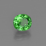 1.41 ct Oval Facet Medium Green Tsavorite Garnet Gem 6.47 mm x 5.9 mm (Photo B)