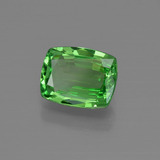 1.44 ct Cushion-Cut Electric Green Tsavorite Garnet Gem 7.69 mm x 6.1 mm (Photo B)