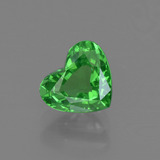 thumb image of 1.1ct Heart Facet Green Tsavorite Garnet (ID: 415384)