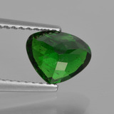 1.31 ct Sfaccettatura a pera Verde scuro Granato tsavorite Gem 7.58 mm x 6.1 mm (Photo C)