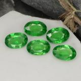 0.40 ct Oval Facet Bright Green Tsavorite Garnet Gem 5.77 mm x 3.9 mm (Photo B)