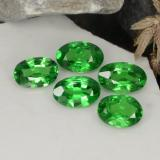 0.41 ct Ovale facette Bright Forest Green Grenat Tsavorite gemme 5.77 mm x 3.7 mm (Photo B)