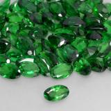 0.23 ct Oval Facet Medium Green Tsavorite Garnet Gem 5.09 mm x 3.1 mm (Photo B)
