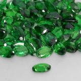 0.23 ct Oval Facet Medium Green Tsavorite Garnet Gem 5.09 mm x 3.1 mm (Photo C)