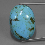 thumb image of 23.3ct Oval Cabochon Blue Turquoise (ID: 443203)