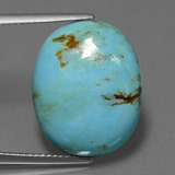 thumb image of 9.7ct Oval Cabochon Blue Turquoise (ID: 444154)