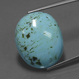 thumb image of 13.1ct Oval Cabochon Blue Turquoise (ID: 444218)