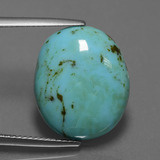thumb image of 9.3ct Oval Cabochon Blue Turquoise (ID: 444264)