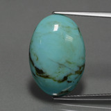 thumb image of 8.8ct Oval Cabochon Blue Turquoise (ID: 444355)