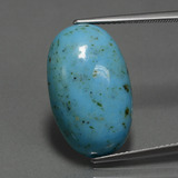 thumb image of 12ct Oval Cabochon Blue Turquoise (ID: 444358)